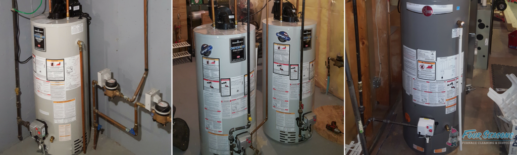 hot water tank installation